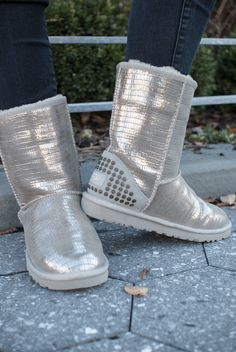 UGG Australia's snakeskin studded sheepskin boot for women - the Classic Short Lizard Studs