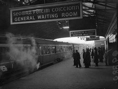 The last train to depart from Harcourt Street Station, Dublin, Images Of Ireland, Photo Engraving, Ireland Homes, Dublin City, Train Journey, Dublin Ireland, Historical Photos, Old Photos, Over The Years