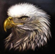 Bald Eagle on metal. Neil Ohmie
