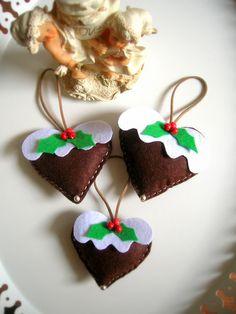 Handmade felt tree ornaments .Christmas ornament .3 by NurayAytac