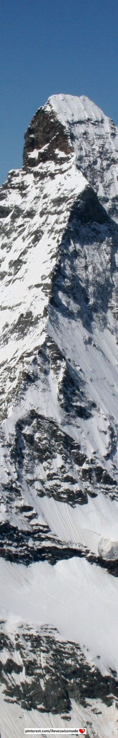 Matterhorn close up. The picture covers close to 4478 meters (the height of the Matterhorn).