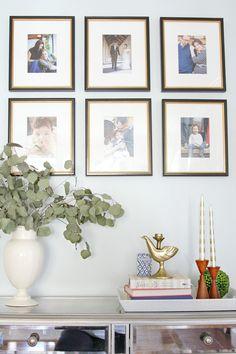 Create a family photo timeline...a fun idea! |The Decor Fix