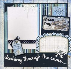 My scrapbook pages are handmade and ready for your scrapbook...just add photo. Not a scrapper? Frame this artwork for a unique gift and/or