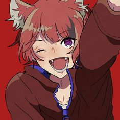 Manado, Neko Kawaii, Neko Boy, Wolf Ears, Animal Ears, Cute Anime Couples, Vocaloid, Chibi, Crushes