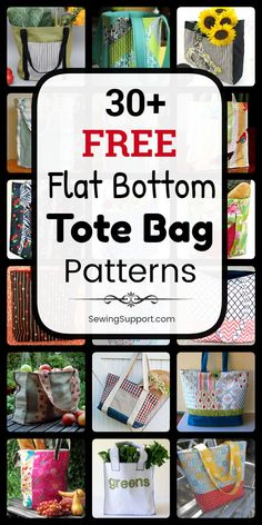 Tote Bag Patterns with Flat Bottoms. free structured, box-style, flat bottom tote bag patterns, tutorials, and diy sewing projects. Styles include easy and simple tote bag patterns for beginners… Bag Patterns To Sew, Tote Pattern, Sewing Patterns Free, Tote Bag Pattern Free Easy, Quilted Tote Bags, Diy Tote Bag, Diy Sewing Projects, Sewing Projects For Beginners, Sewing Tutorials