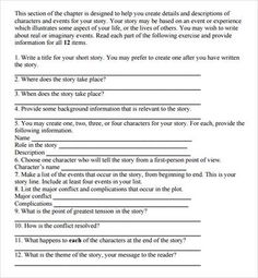 Short Story Outline Template - 7+ Worksheets for Word, PDF ...