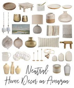 Neutral Home Decor on Amazon Under $50! New Living Room, Living Room Decor, Bedroom Decor, Amazon Home Decor, Diy Home Decor, Home Decor Inspiration, Decor Ideas, First Home, Decoration