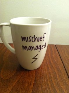 Harry Potter mug. $15.00, via Etsy.