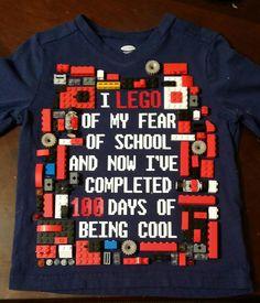 LEGO 100 days of school shirt.