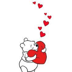 ♡ My Fun Valentine ♡ Feel like this is my heart being hugged just LOVE Winnie the Pooh ! Winnie The Pooh Pictures, Cute Winnie The Pooh, Winne The Pooh, Winnie The Pooh Quotes, Winnie The Pooh Friends, Pooh Bear, Eeyore, Disney Quotes, Cute Disney