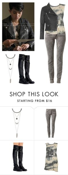 A fashion look from December 2016 featuring tie-dye tank tops, genuine leather jackets and SELECTED. Browse and shop related looks. Audrey Jensen, Mtv Scream, Topshop, Black Jeans, Leather Jacket, Sporty, Zombie Apocalypse, Shoe Bag, Charlotte Russe