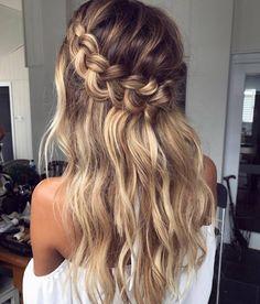 Half Up Crown Braid For Long Hair hair styles 60 Breezy Crown Braid Hairstyles for Summer Hairstyles Haircuts, Summer Hairstyles, Cool Hairstyles, Hairstyle Ideas, Hairstyles Pictures, Asian Hairstyles, Teenage Hairstyles, Hairstyle Tutorials, Braided Hair Tutorials