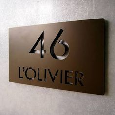 contemporary house name plates - Google Search