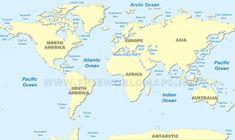 Physical World Map HD World Maps Pinterest School - Southern ocean in world map
