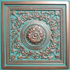 "Amazon.com: Majesty Antique Copper Patina (24x24"" Pvc) Ceiling Tile: Home & Kitchen"