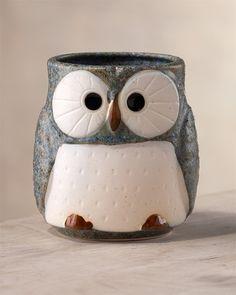 Owl mug. A good mug of coffee and a good book.