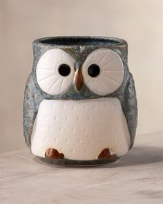 Owl mug. A good mug of coffee and a good book.