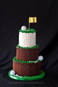 Golf groom's cake by La Crème Wedding Cakes