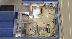 Appartement scandinave - plan