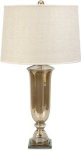 Patton Glass Urn Table Lamp by IMAX Worldwide Home. $167.86. 23.75 in. H x 18 in. D. Material: 97% Glass, 3% Aluminum. Weight: 13.55 lbs. With a warm, sultry ambiance, the Patton glass urn lamp adds a bit of glamour to any room. The flared drum linen shade is topped with a matching luster glass finial. Uses type A 13W CFL or 60W A Type Bulb.. Material: 97% Glass, 3% Aluminum. 23.75 in. H x 18 in. D. Weight: 13.55 lbs. With a warm, sultry ambiance, the Patton glass urn lamp adds...