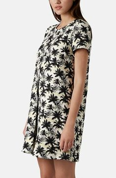 Topshop Palm Jacquard Shift Dress | Nordstrom