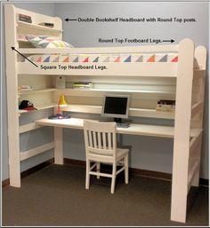 LoftBed with Desk Underneath