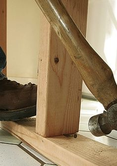 How to Build a Temporary Wall - Studs