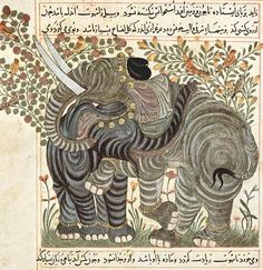 Elephants, Iran, ca. 1294-1299 illumin, elephants, animals, illustrations, art, arab book, free printabl, allah, 1295 book