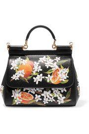 Dolce & GabbanaSicily medium printed textured-leather tote