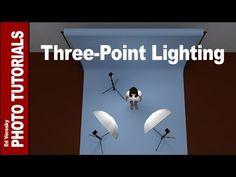 Studio Flash Lighting Portrait photography Large Softbox tutorial - YouTube