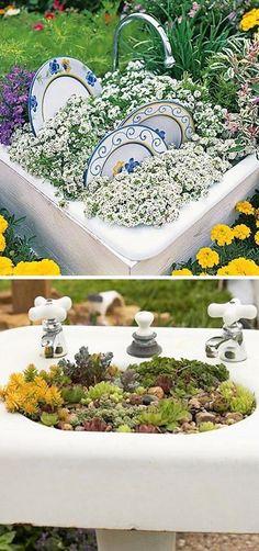 24 Creative Garden Container Ideas #backyard #diyhomedecor #home #DIY