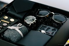 Anniversary Gift Ideas For Him Discover Mens Gift Box Complete Mens Gift Set Mens Watch Sunglasses Flask Tuxedo Set Cufflinks Tie Clip Bottle Opener Luxury Gift Box Gadget Gifts For Men, Gift Box For Men, Mens Gift Sets, Men Gifts, Best Gifts For Men, Best Man Gift Ideas, Luxury Gifts For Men, Gifts For Men Ideas, Useful Gifts For Men