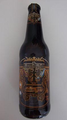Cerveja Eisenbrucke Imperial Stout, estilo Russian Imperial Stout, produzida por Cerveza Artesanal Eisenbrücke, Argentina. 12% ABV de álcool.