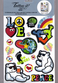 Ganz Tattoo it Stickers for iPad Tablets Laptops & Most Computer Reading Devices #Ganz