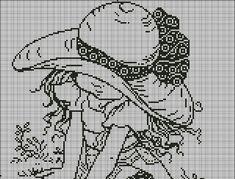 Схема для вышивки крестом монохром ребенок