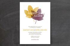 Black, Brown, Orange, Purple Wedding Invitations + Free Guest Addressing | Minted