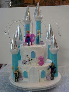 Disney Castle Cake, Frozen Castle Cake, Disney Cakes, Frozen Cake, Castle Cakes, Castle Birthday Cakes, Frozen Birthday Cake, Birthday Cake Girls, Princess Birthday
