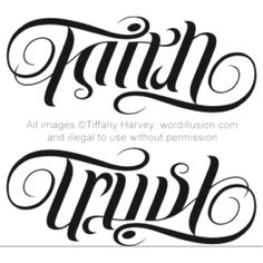 Faith Trust tattoo