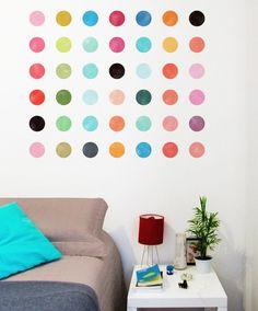 Adesivo de parede Pontos Coloridos