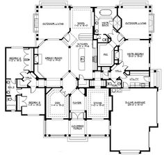 Triple-Arched Welcome - 23268JD | 1st Floor Master Suite, Butler Walk-in Pantry, CAD Available, Corner Lot, Craftsman, Den-Office-Library-Study, Jack & Jill Bath, Northwest, PDF, Photo Gallery, Split Bedrooms | Architectural Designs