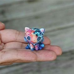 So cute!❤ Lovely galaxy tiger figure By @thelittlemew _ Tag your friends  _ ▪Follow our 2nd page @bestartposts