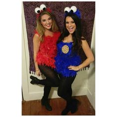 Elmo and cookie monster costumes for halloween diy halloween elmo and cookie monster halloween costume diy halloween costume elmo cookiemonster solutioingenieria Choice Image