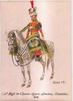 2e Régiment de Chevau-légers Lanciers, Timbalier - 1812 War Drums, Empire, French Army, Napoleonic Wars, Dragon, Military Uniforms, Medium, 19th Century, Military Art