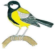 Pieni lintukuvasto   LUOMUS Monet, Birds, Winter, School, House, Ideas, Drawing Drawing, Winter Time, Home