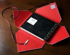 "Book bound in Eastern style. Case named ""Tsubakuro""."