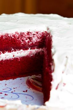 Dessert Recipe - Southern Red Velvet Cake with Cream Cheese Frosting