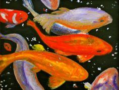 Landscape Paintings, Fish, Pets, Animals, Animais, Animales, Animaux, Pisces, Landscape