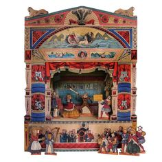 Neptune Wooden Toy Theatre from Pollock's Toy Shop
