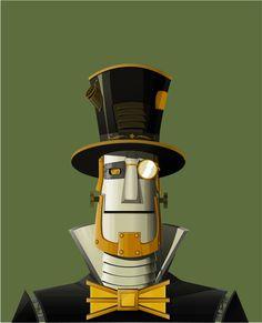 Steampunk Robot by aka-underumbrella
