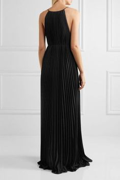 Elizabeth and James - Pleated Chiffon Gown - Black - US